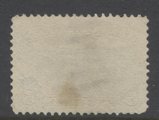 Newfoundland #54 (SG#53) 5c Dark Blue Seal 1887 Cents Issue Soft Vertical Wove Paper F-70 Used Brixton Chrome