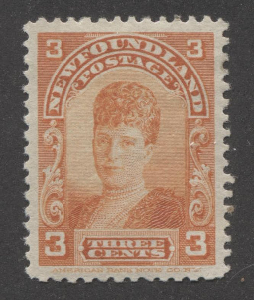 Newfoundland #83 (SG#88) 3c Orange Queen Alexandra 1897 Royal Family Issue VF-79 OG Brixton Chrome