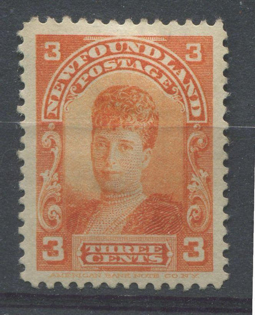 Newfoundland #83 (SG#88) 3c Red Orange Alexandra 1897-1901 Royal Family Issue VF-78 OG Brixton Chrome