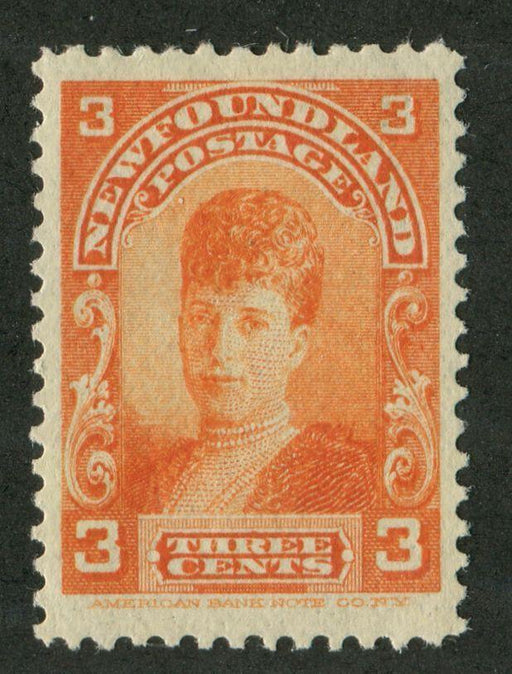 Newfoundland #83 (SG#88) 3c Red Orange Alexandra 1897-1901 Royal Family Issue VF-80 OG Brixton Chrome