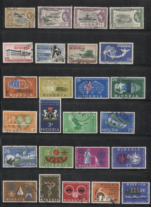 Nigeria SG#81/128 1956-1962 Commemorative Issues, Complete VF CDS Used Set of 35 Singles Brixton Chrome