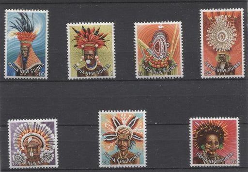 Papua New Guinea #446-455 1977-78 Traditional Headdresses Issue VF NH Short Set Brixton Chrome