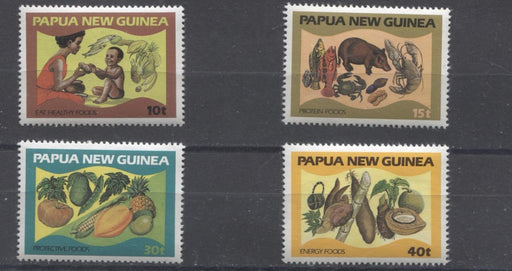 Papua New Guinea #562-565 1982 Eat Nutritious Foods Issue VFNH Brixton Chrome
