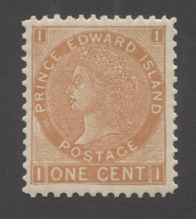 Prince Edward Island #11 1c Brown Orange Queen Victoria, 1872 Cents Issue, A Very Fine Mint NH Example, Perf. 11.75 Brixton Chrome