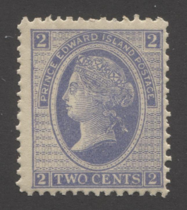 Prince Edward Island #12 2c Powder Blue Queen Victoria, 1872 Cents Issue, A Fine NH Mint Example of the Perf. 12.75 x 12.5 Brixton Chrome