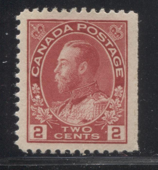 shopify auction Brixton Chrome Canada #106ii 2c Deep Rose Red King George V, 1911-1928 Admiral Issue, Very Fine Mint OG Example From the Right Edge of the Left Pane-145980-88850