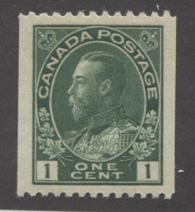 shopify auction Brixton Chrome Canada #131 (SG#216)1c Deep Green 1911-27 Admiral Perf. 12 Horizontally, A Very Fine NH Mint Example With Jumbo Margins-141390-86225