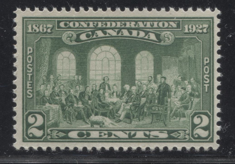 shopify auction Brixton Chrome Canada #142 2c Deep Yellowish Green , 1927 60th Anniversary of Confederation, Very Fine Mint NH Single-145977-88821