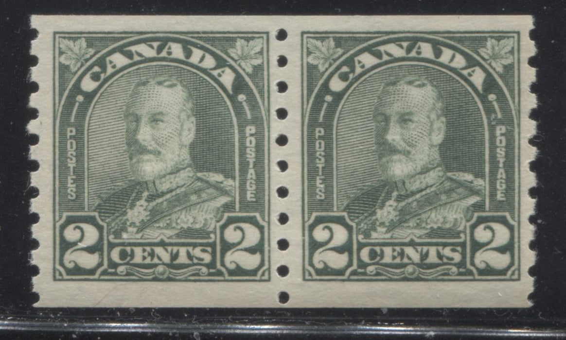 shopify auction Brixton Chrome Canada #180 2c Yellowish Green King George V, 1930-1935 Arch Issue, A Very Fine NH Coil Pair-145965-88851