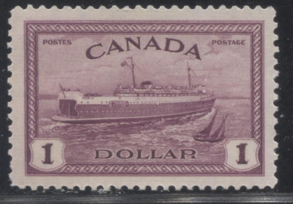 shopify auction Brixton Chrome Canada #273 $1 Rose Purple Train Ferry, 1946-1951 Peace Issue, A Very Fine Mint NH Example-145776-88853