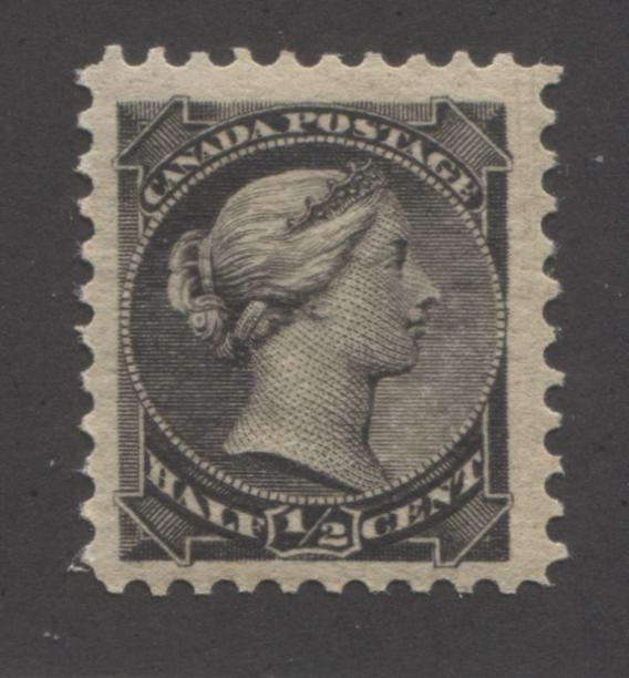 shopify auction Brixton Chrome Canada #34 1/2c Black Queen Victoria 1870-1897 Small Queen Issue a Fine NH Example of the Second Ottawa Printing, Perf. 12.-141575-86248