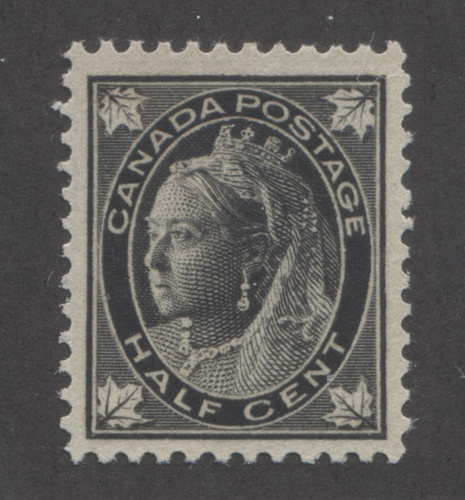 shopify auction Brixton Chrome Canada #66 (SG#142) Half Cent Black 1897-1898 Maple Leaf Issue, A Very Fine NH Example-141381-86215