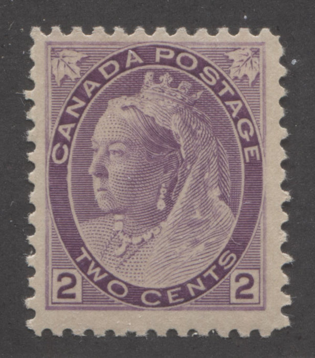 shopify auction Brixton Chrome Canada #76a 2c Deep Purple Queen Victoria 1898-1902 Numeral Issue on Thick Paper, a Fine NH Example-141383-86217