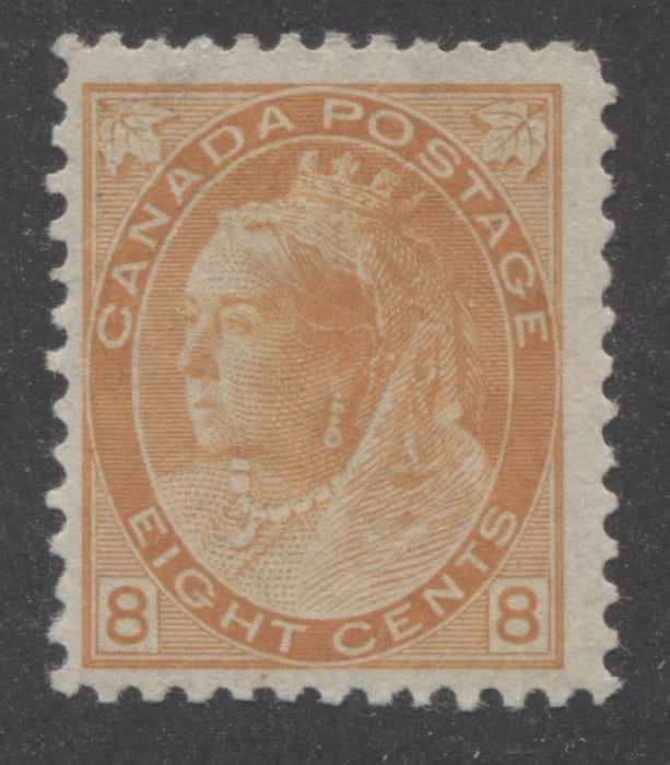 shopify auction Brixton Chrome Canada #82 (SG#161) 8c Orange 1898-1902 Numeral Issue, A Fine OG Mint Example-141384-86220