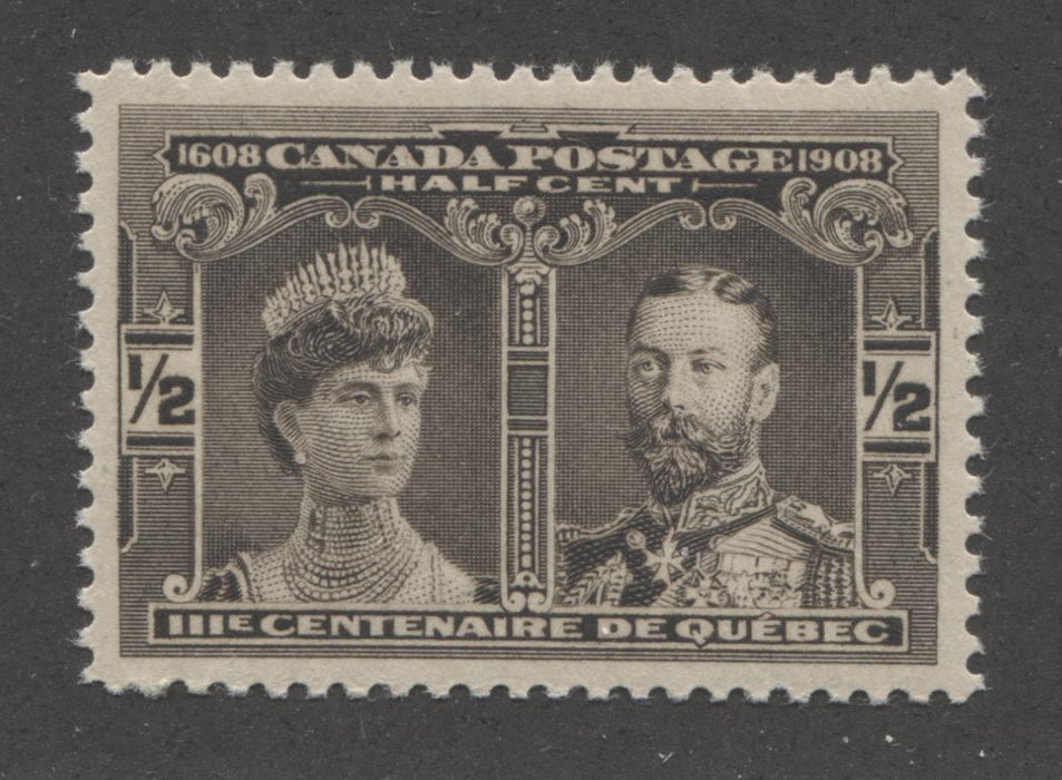 shopify auction Brixton Chrome Canada #96 (SG#188) 1/2c Brown Black Quebec Tercentenary , A Very Fine Mint NH Example-141386-86222