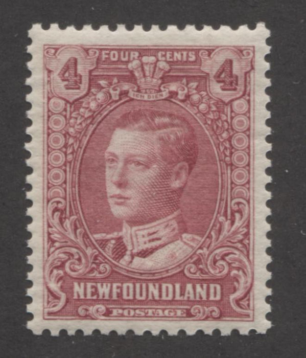 shopify auction Brixton Chrome Newfoundland #148 4c Lilac Rose Prince of Wales 1928-1929 Publicity Issue, A Very Fine Mint NH Example of the Comb Perf. 13 x 13.5-141370-86206