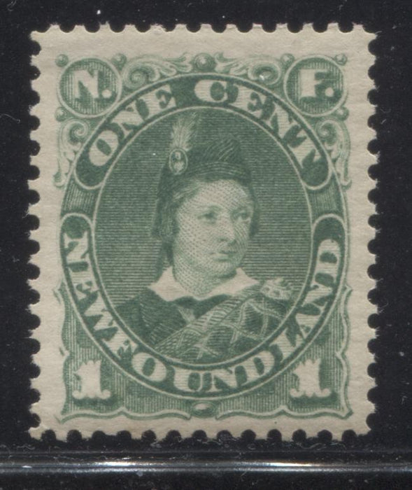shopify auction Brixton Chrome Newfoundland #45a 1c Deep Yellow Green Prince of Wales, 1880-1896 Third Cents Issue, A Very Fine Mint NH Example-145657-88832
