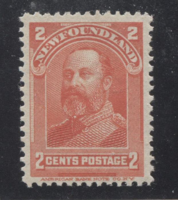 shopify auction Brixton Chrome Newfoundland #82 2c Vermilion Prince of Wales, 1898-1908 Royal Family Issue, Very Fine Mint NH-141364-86204