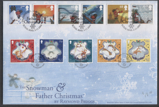 Great Britain & Isle of Man SG#2495-2500 2004 The Snowman & Father Christmas - Tallents House First Day Cover Including Both UK and Isle of Man Christmas Issues