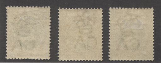 Southern Nigeria SG#11 1d Grey and Aniline Carmine Rose, Three Different Shades, With SON Asaba, Akassa and Sapele CDS Cancels Brixton Chrome