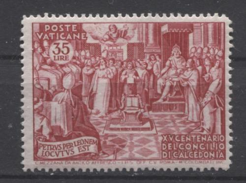 Vatican City #149-153 1951 1500th Anniversary of the Council of Chalcedon F-70 to VF-84 LH Brixton Chrome
