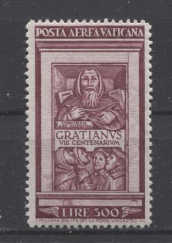 Vatican City #C20-C21 1951 300-500L 800th Anniversary of Unified Canon Laws VF-78 OG LH Brixton Chrome