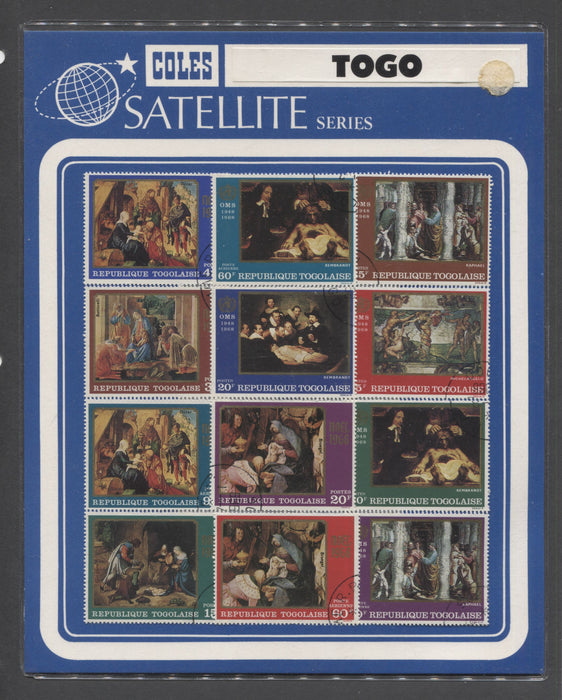 Wordwide - 1960's/70's Coles Stamp Packet Featuring TOGO, Unopened & Ideal For Framing! Brixton Chrome