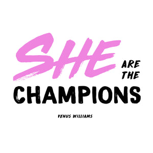 venus williams she are the champions plus size t-shirt design