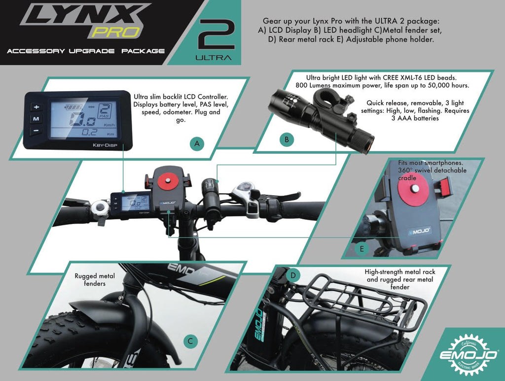 EMOJO LYNX Pro Ultra 2 Folding Fat Tire Electric Bike PRO Ultra 2 Product Catalog