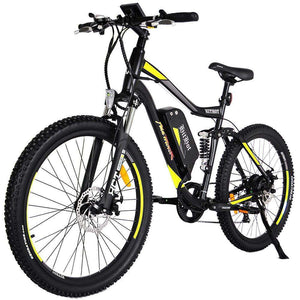 AddMotor HITHOT H1 Dual Suspension Electric Mountain BikeMountain Electric BikeAddMotorRelax And Ride Bikes