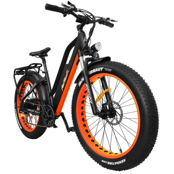 AddMotor MOTAN M-450 P7 Fat Tire Fork Full Suspension Electric BikeStep Through BikeAddMotorRelax And Ride Bikes