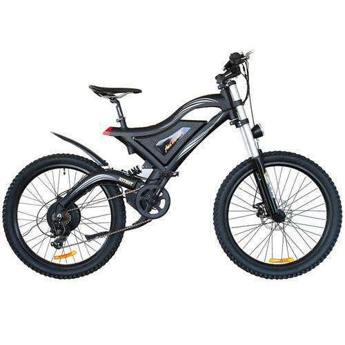 AddMotor HITHOT H5 High Fork Full Suspension Electric Mountain BikeRelax And Ride Bikes