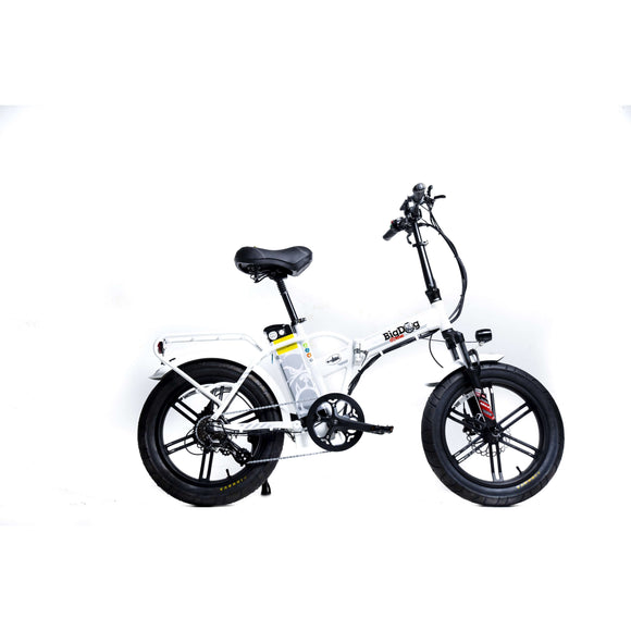 GreenBike Electric Motion Big Dog Off Extreme Fat Tire Folding Electric BikeRelax And Ride Bikes
