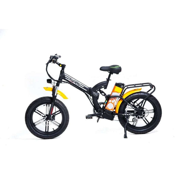 GreenBike Electric Motion Big Dog Off Road Fat Tire Folding Electric BikeRelax And Ride Bikes