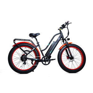 GreenBike Electric Motion EM 26 Fat Tire Low Step Cruiser Electric BikeRelax And Ride Bikes