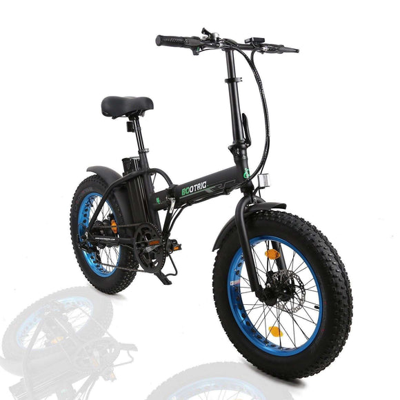 Ecotric Fat Tire Portable & Folding Electric Bike 20