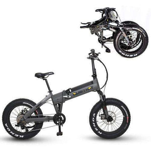QuietKat 2019 NEW Bandit 750 G0 Hub-Drive Folding Fat Tire Electric BikeRelax And Ride Bikes
