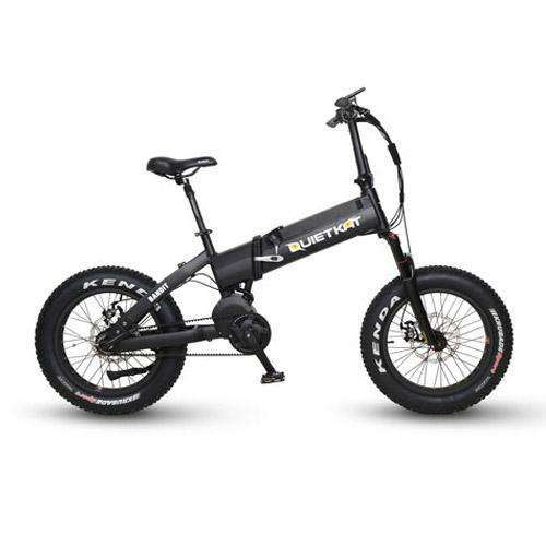 QuietKat 2018 Bandit 750 Folding Mid-drive Fat Tire Electric BikeRelax And Ride Bikes