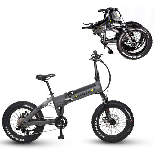 QUIETKAT 2020 VOYAGER FOLDING E-BIKEFolding Electric BicycleQuietKatRelax And Ride Bikes