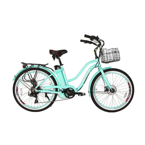 X-Treme Malibu Elite 24V Beach Cruiser Electric BikeRelax And Ride Bikes
