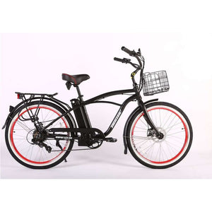 X-Treme Newport Elite Max 36V Beach Cruiser Electric BikeRelax And Ride Bikes