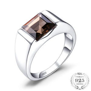 Solid 925 Sterling Sliver Brown Ring