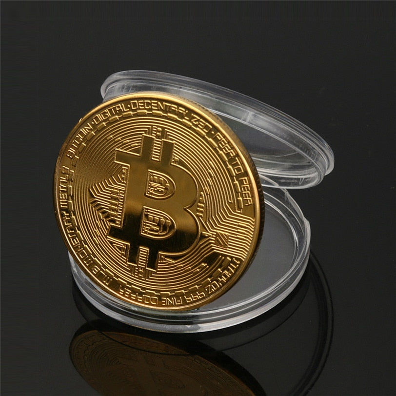 Gold Plated Bitcoin (BTC) commemorative coins