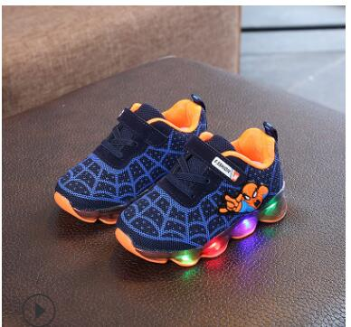 Spiderman Kids Sports Shoe With LED light