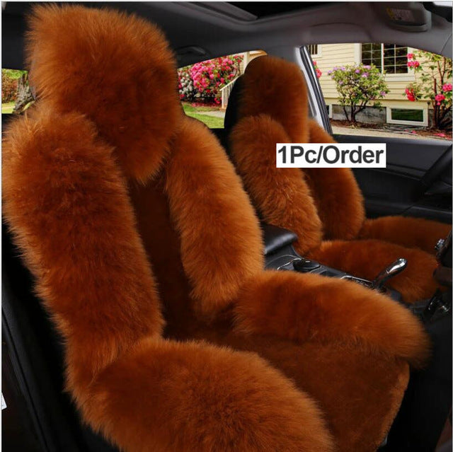 Australian Natural Wool front Seat Cover