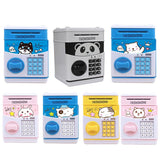 Cartoon Mini Piggy Bank Password Saving Box