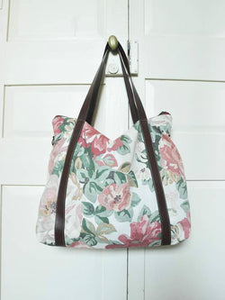 Up-cycled Nappy Bag - Flowers