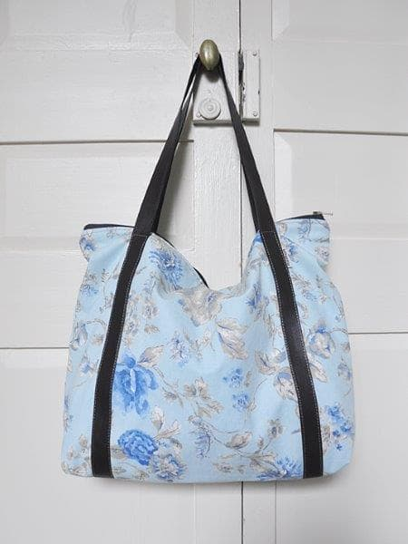 Up-cycled Nappy Bag - Blue Lili