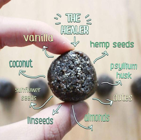 The Healer Vanilla Hemp Smoothie Bomb