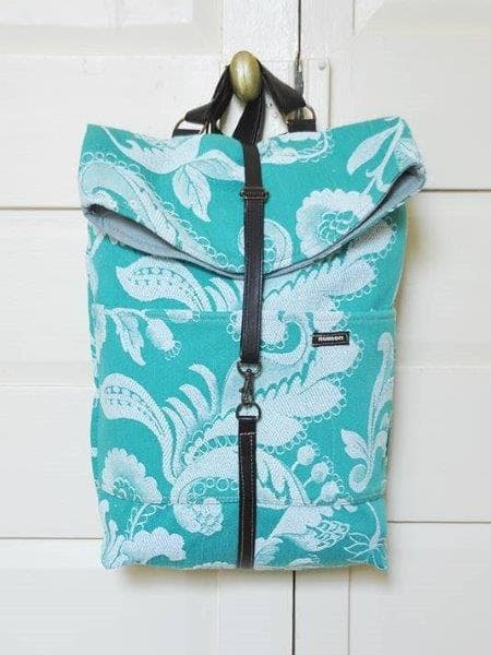 Up-cycled Backpack - Sky